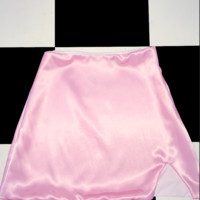 SWEET LORD O'MIGHTY! SILK KITTEN SKIRT IN POWDER ROSE