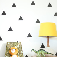 Vinyl Wall Sticker Decal Art - Triangles - 24 Colors to Choose From