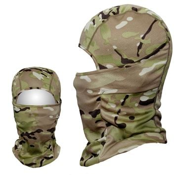 Multicam Tacitcal Gear Military Army Balaclava Airsoft Snowboard Motorcycle Bicycle Camouflage Helmet Outdoor Full Face Mask