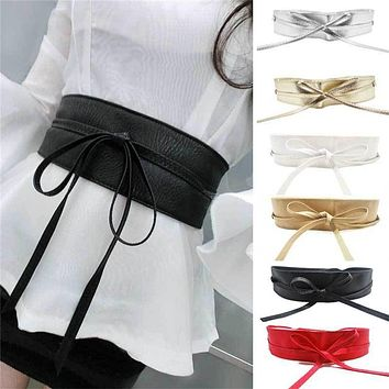women belt wide pu leather designer high waist lace up belt waist Bands straps gold belt ceinture femme,cinturones mujer