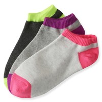 3-Pack Colorblock Ped Socks - Aeropostale