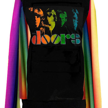 The Doors Rainbow Sprectrum Sweater Top