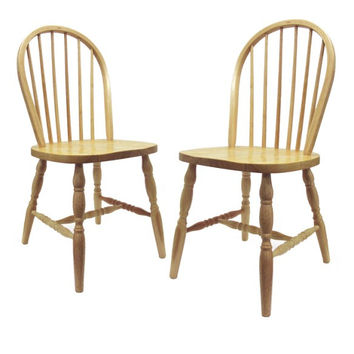 Set of 2 Windsor Chairs, Assembled