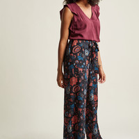 Pocketed Wide-Leg Pants in Blossom