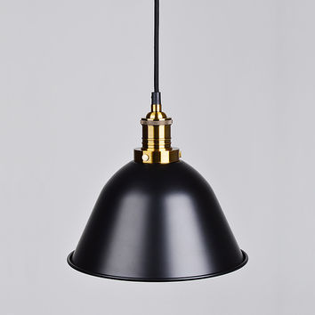 Paulo Canopy Pendant Lamp Lighting,  Matte Black or Gold