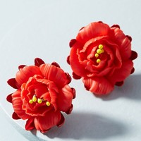 Fire Flower Post Earrings