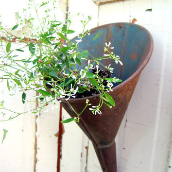 Large Vintage Hanging Farmhouse Funnel by birdie1 on Etsy