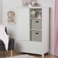 South Shore Cotton Candy Armoire with Drawer, Multiple Finishes - Walmart.com