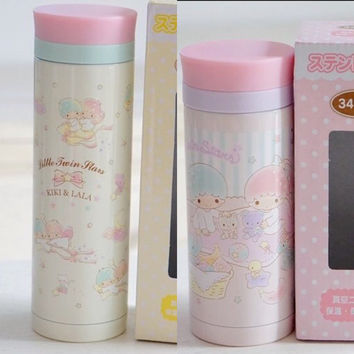 Littl twin stars thermal vaccum flask available in 460ml or 340ml