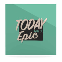 "Juan Paolo ""Epic Day"" Vintage Teal Luxe Square Panel"