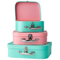 Bon Voyage Suitcase (Aqua/Pink) in Bins & Baskets | The Land of Nod