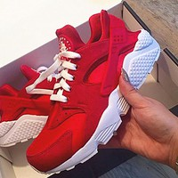NIKE Huarache Red White Soles Casual Shoes Sneakers Sapphire blue G-AA-SDDSL-KHZHXMKH