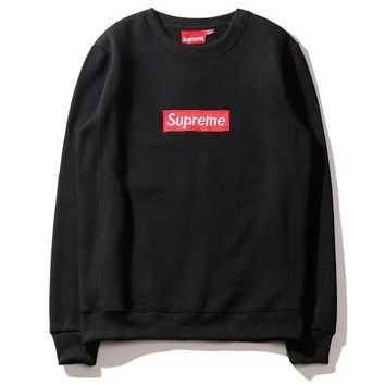 """Supreme"" Long Sleeve Pullover Sweatshirt"