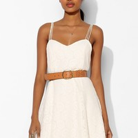 Pins And Needles Knit Lace Multi-Strap Swing Dress - Urban Outfitters