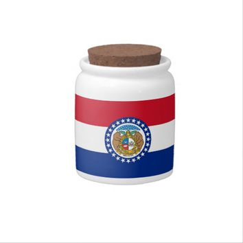 Missouri State Flag Candy Jar