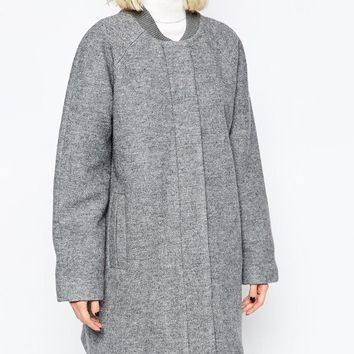 Selected Coat in Grey