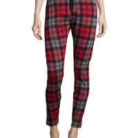 Whitney Plaid Lounge Leggings, Size: