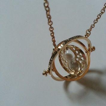 Harry Potter Hermione Granger  Time Turner  Charm Necklace