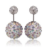 Limited Edition Tribal Earrings - Swarovski Crystal White Multi Color