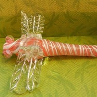Pink Dragonfly Glass Pipe