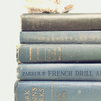 Hamlet,Shakespeare,Joan of Arc,Photo Props,Yale Shakespeare,Venus and Adonis,Dusk Blue,Something Blue,French School Book,Old Books