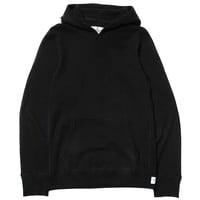 Lightweight Terry Thermal Knit Hybrid Pullover Hoodie Black