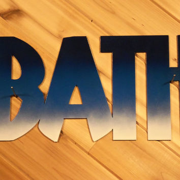 Metal Wall Words Metal Wall Art Bath By PrecisionCut