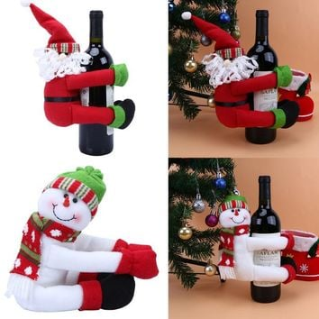 Christmas Large Wine Bottle