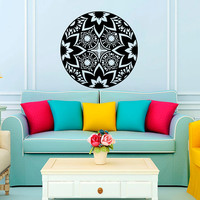 Mandala Yoga Wall Decal Vinyl Sticker Wall Decor Home Interior Design Art Murals NA3