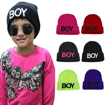 Baby Girls Boys Knitted Hats Toddler Ski Hats BOY Beanie Caps for Children Kids Baby Crochet Cap Skullies Casquette