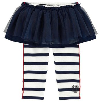 Junior Gaultier Baby Girls Tule Skirt with Attached Leggings