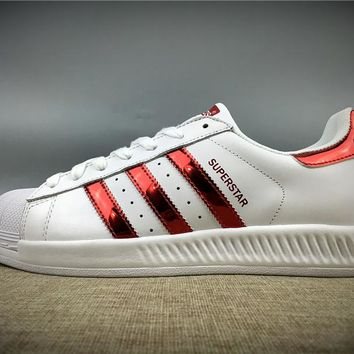 Best Online 2017 Newest Adidas Originals Superstar White / Red / Gold Metallic Sneakers Classic Casual Shoes