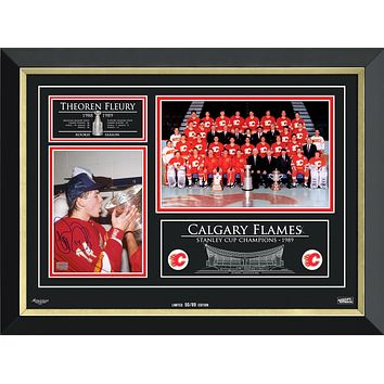 THEOREN FLEURY & THE CALGARY FLAMES STANLEY CUP CHAMPS, LIMITED EDITION /89