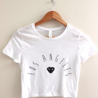 Los Angeles Diamond Graphic Crop Top