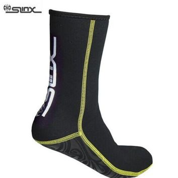 DCCKUH3 SLINX 1130 3mm Neoprene Men Women Scuba Diving Socks Swimming Swimwear Wetsuit Prevent Scratch Warm Snorkeling Spearfishing Sock