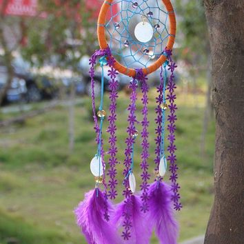 DCCKJ6E Hot Sale Wind Bell Indian Feather Dream Catcher [9613384463]