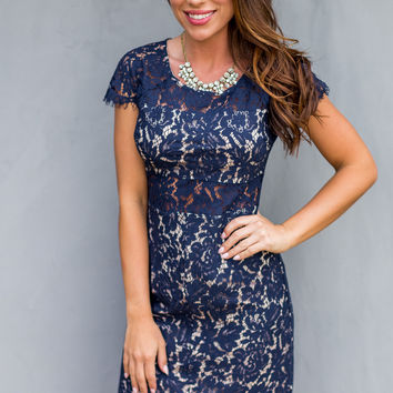 WEB EXCLUSIVE: Beautiful Bliss Dress in Navy