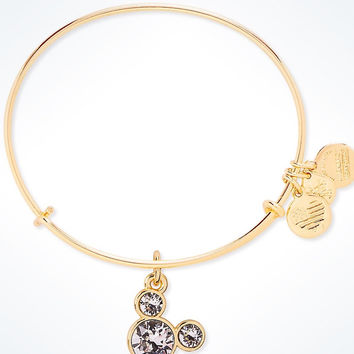 Disney Mickey Mouse Birthstone Bangle by Alex and Ani April Gold Finish New