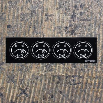 Mini Shit Sticker Strip Black
