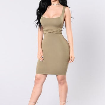 Turn The page Dress - Sage Olive