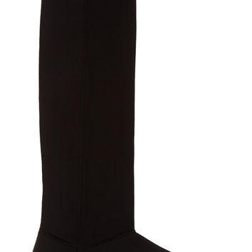 Rick Owens Drkshdw Black And White Padded Knee-high Boots