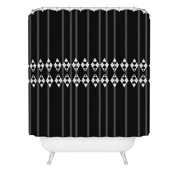 Viviana Gonzalez Black and white collection 03 Shower Curtain