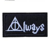 Always Iron / Sew On Embroidered Patch hogwarts Badge harry potter Embroidery | eBay