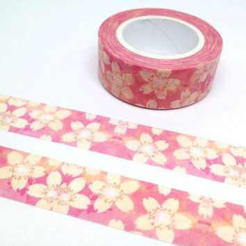 sakura tape 10M pink flower Cherry Blossom washi tape white flower national flower Japan flower deco masking tape flower sticker tape