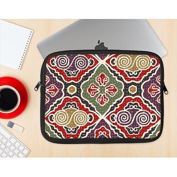 The Creative Colorful Swirl Design Ink-Fuzed NeoPrene MacBook Laptop Sleeve