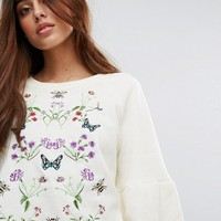 Vero Moda Embroidered Sweater at asos.com