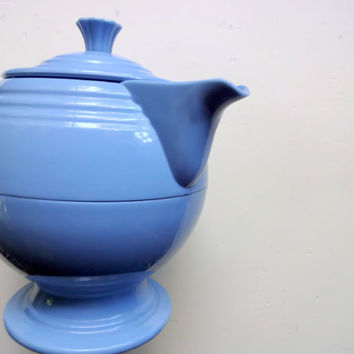 Vintage Fiestaware Blue Thermal Insulated Server