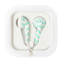 Mint Chevron Earbuds