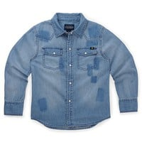 Lucky Brand Chambray Patchwork Shirt Boys - Open Overflow