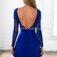 The Lucky One Dress (Cobalt Blue) | Xenia Boutique | Women's fashion for Less - Fast Shipping